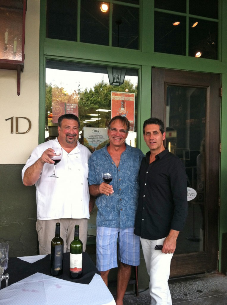 Chef Chris Torvas (Owner Wild Olives), Frank Gearhart (Patron) and Tom DiBacco