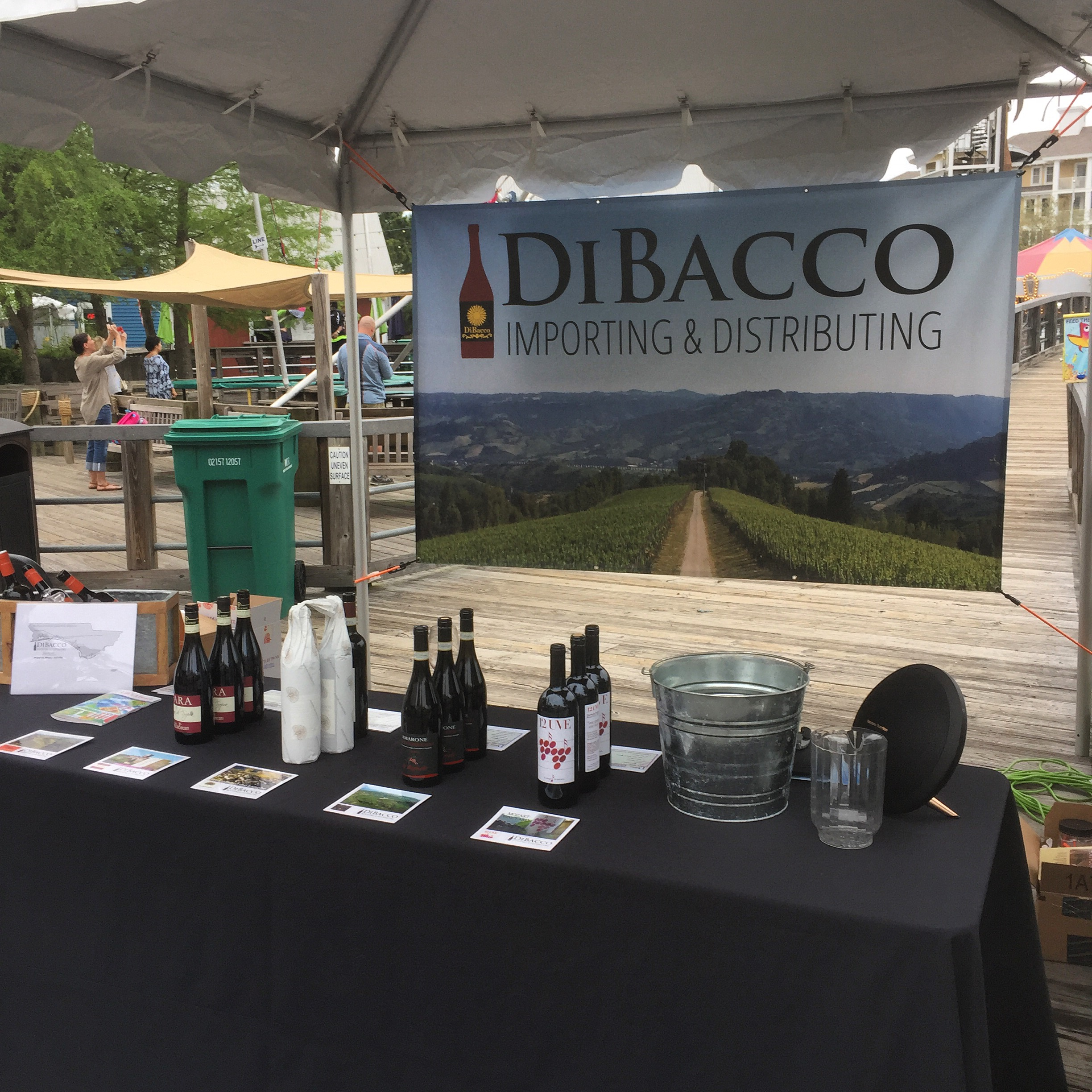 Our booth at the 2015 Sandestin Wine Festival