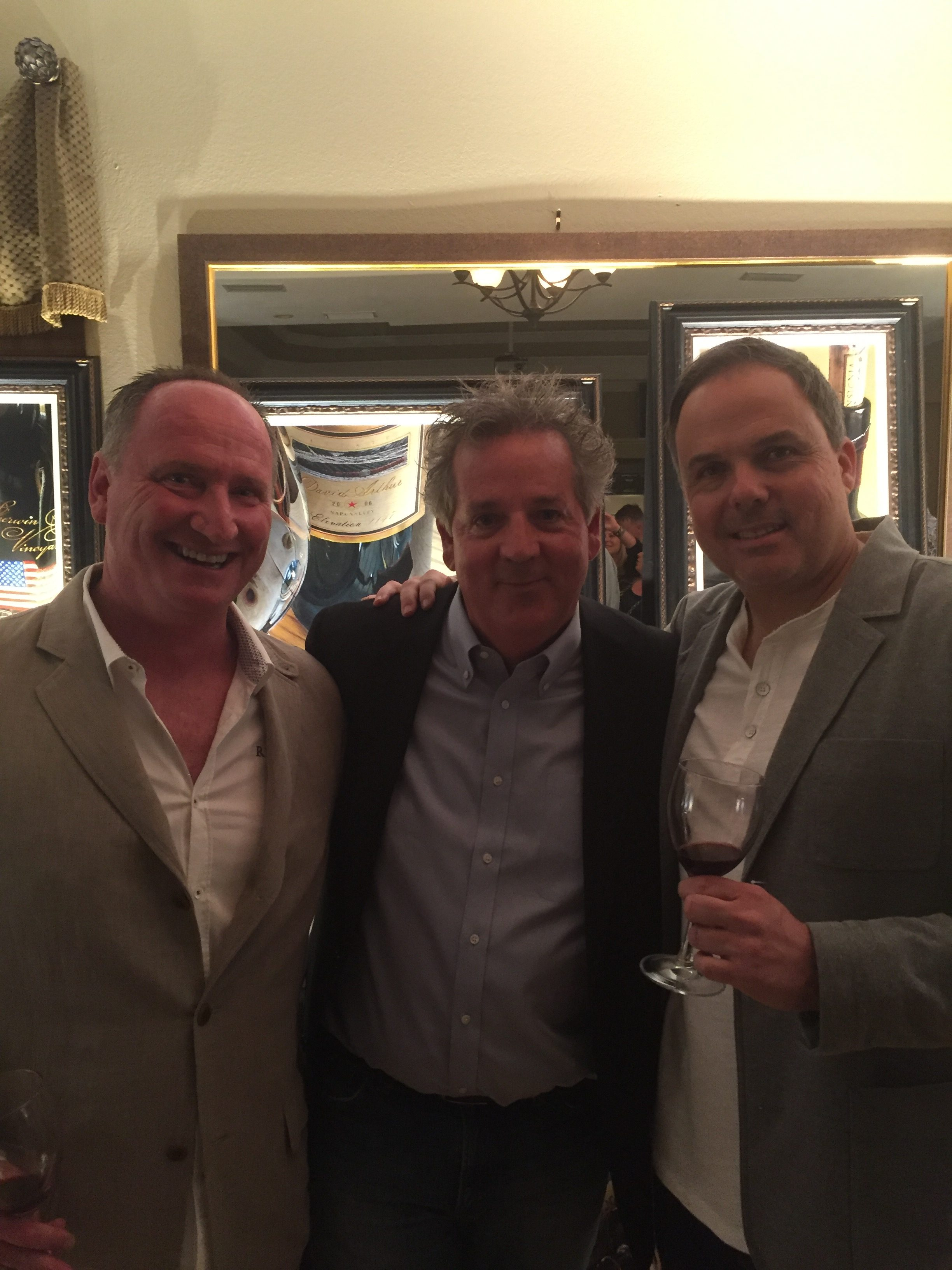 Dean Gray (Riverain), David Arthur Long (David Arthur) and Neil Ellman (Ellman Family Vineyards)